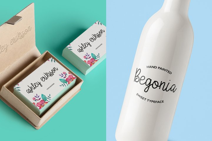 Begonia - Free Font of The Week Design1