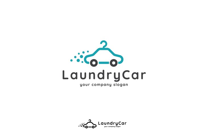 car hanger laundry logo template