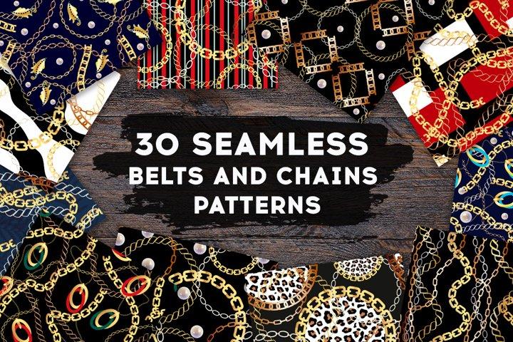 30 SEAMLESS BELTS & CHAINS PATTERNS