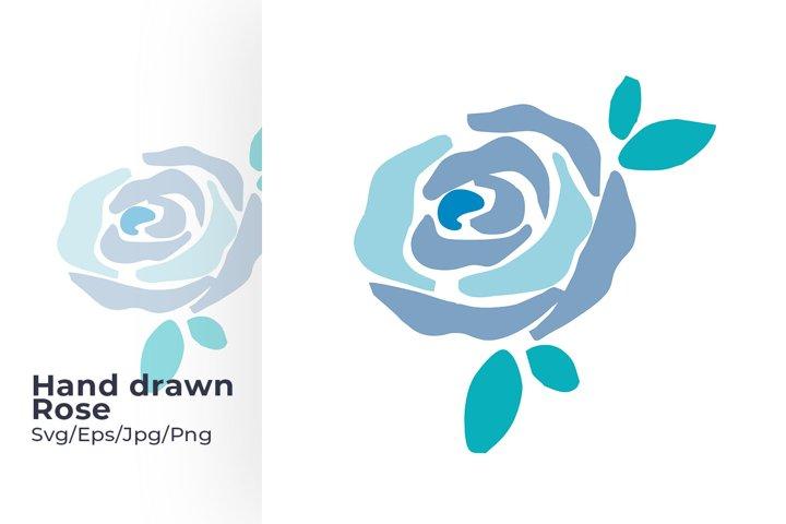 Rose flower Hand drawn Svg Design
