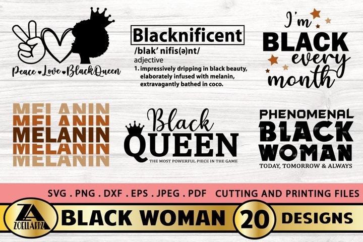 Black Women SVG Bundle Black Girl SVG Melanin SVG Cut Files
