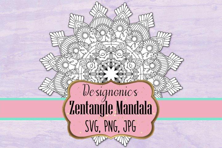 Zentangle Mandala 3 - SVG, PNG, JPG