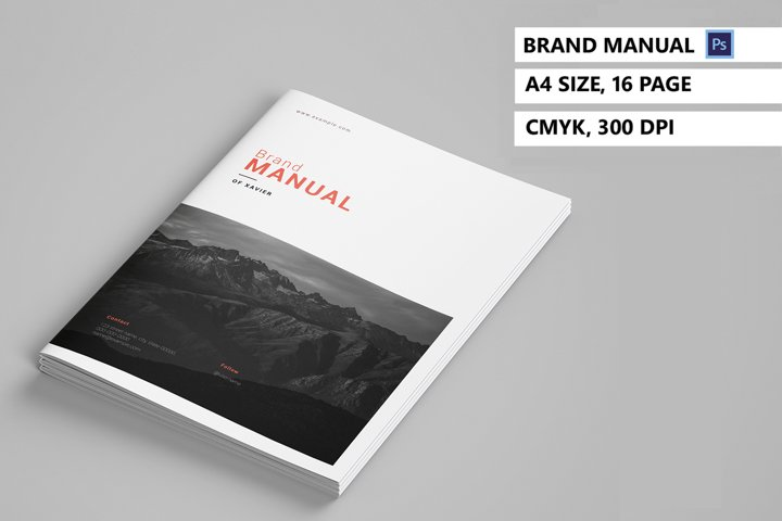 Brand Manual Template, Photoshop Template