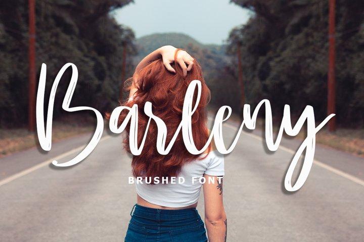Barleny brushed font