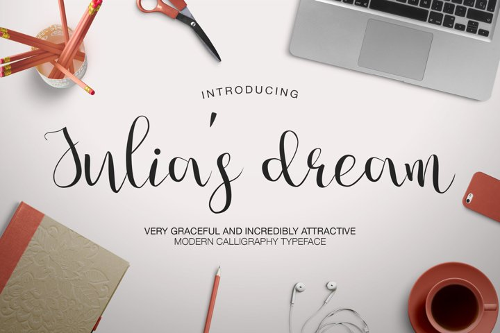Julia's Dream - Free Font of The Week Font