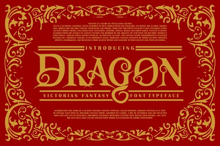 Dragon | Victorian Font Typeface - Free Font Of The Week Font