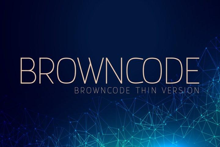 Browncode Thin Versionl Elegant font sans serif