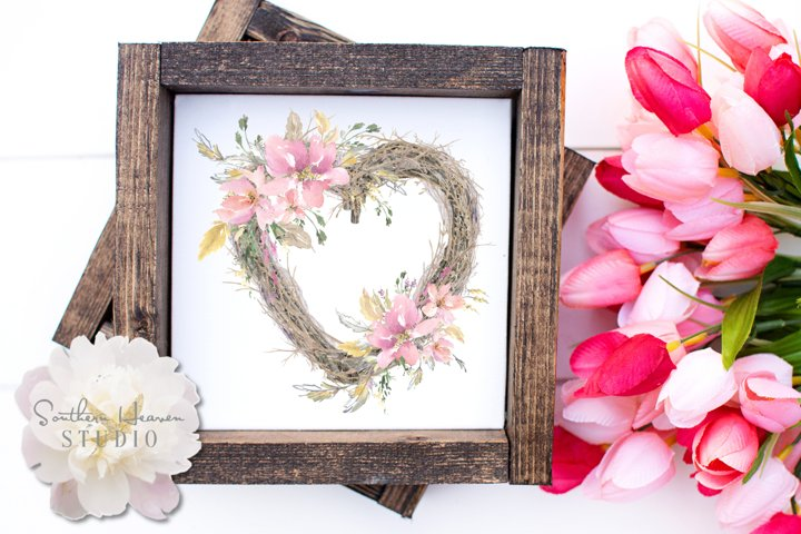 SPRING LOVE TWIG WREATH - PNG