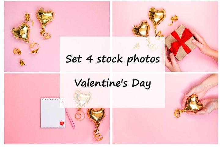Set 4 stock photos. Valentines Day.