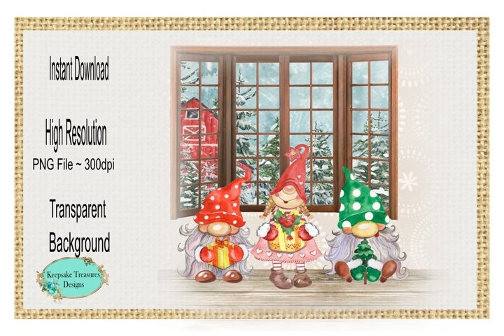 Gnomes At Home, Sublimation Design