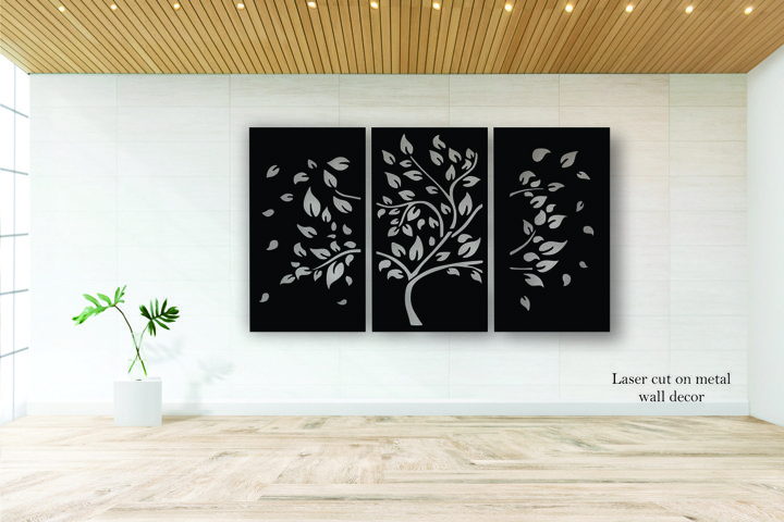 Tree Wall decor. Laser cut files SVG DXF CDR vector files