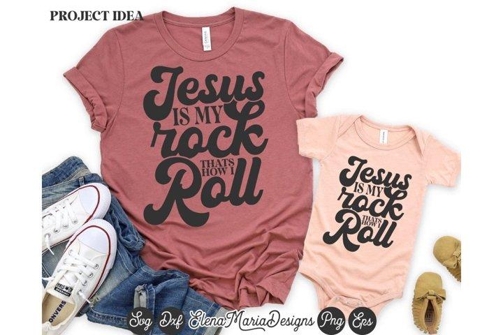 Christian shirt for Women SVG Jesus Is My Rock SVG