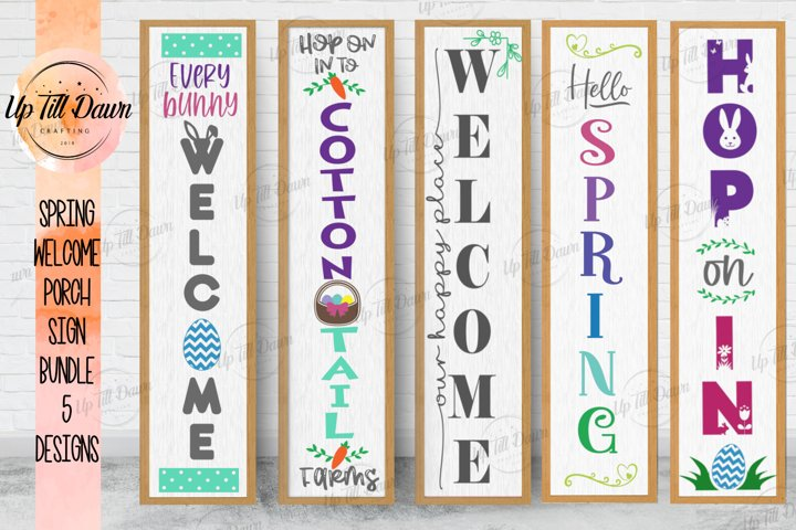 Easter Welcome Porch Sign SVG, Spring Welcome SVG