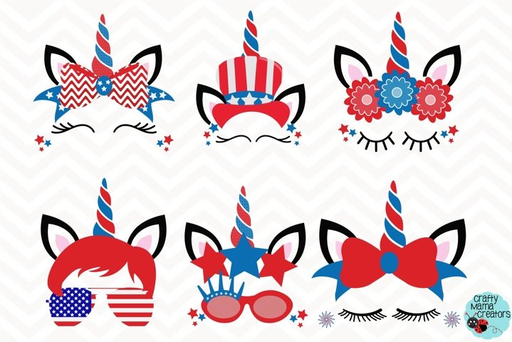 July 4th Unicorn Svg, Independence Day Clip Art, 4th of July