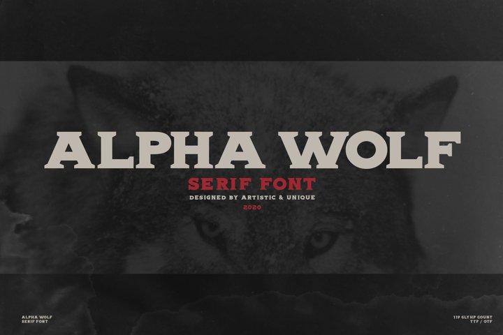 Alpha wolf - Serif font