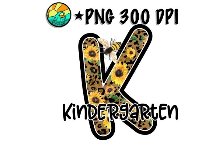 Kindergarten - Leopard - Bee- Sunflower -PNG for Sublimation example