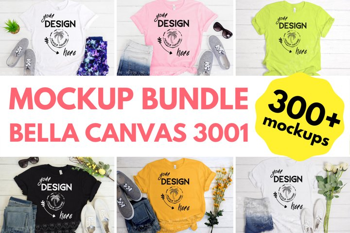 Bella Canvas Mockup Bundle - Bella Canvas 3001 Tshirt Bundle