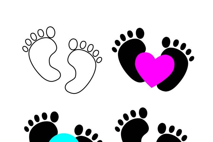 Baby feet svg