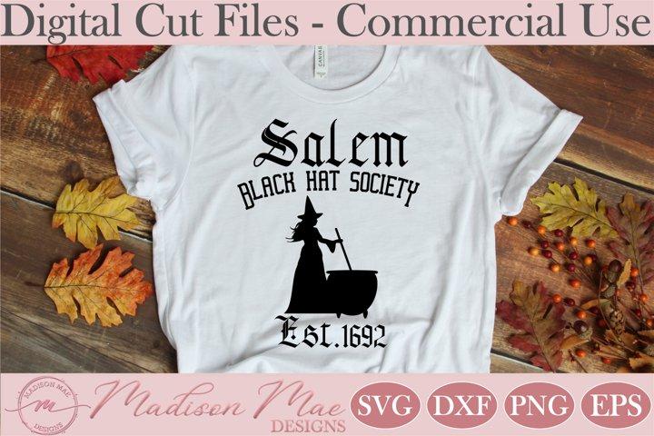 Black Hat Society, Halloween Witch SVG