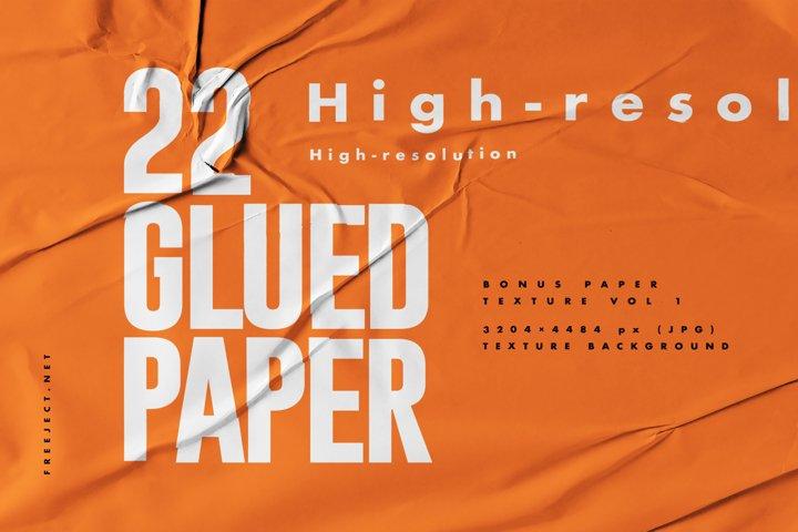 Glued Paper Vol2 Texture Background