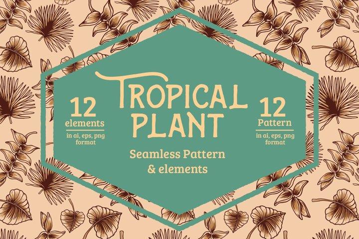 Tropical Plant Pattern & Elements