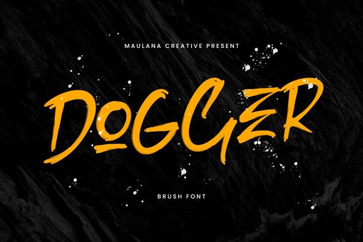 Dogger Brush Font