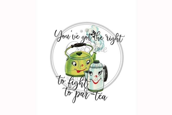 Funny Tea Pun, Tea Pots, Par-Tea Food Pun Sublimation