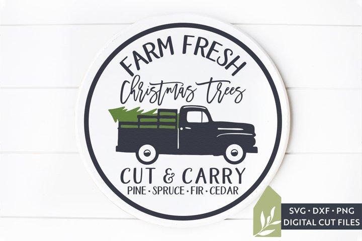 Christmas Tree Truck SVG, Wood Sign Tree Farm SVG