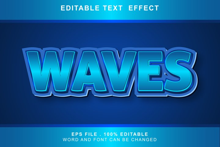 waves text effect editable