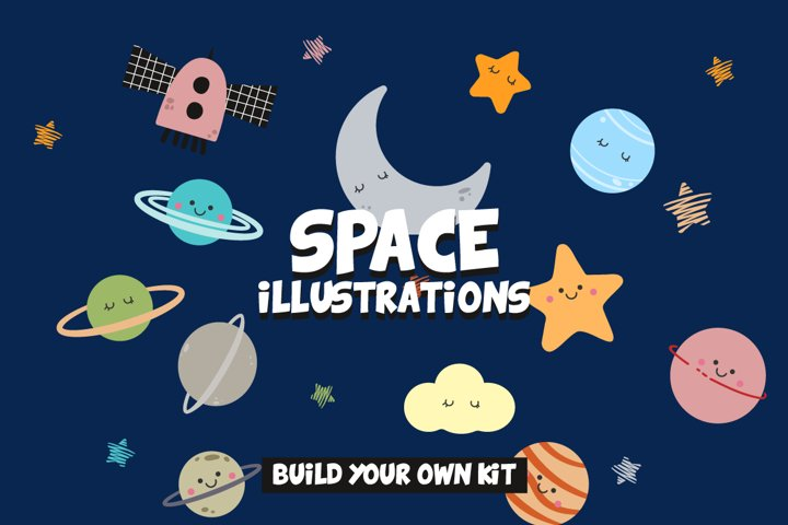 Solar System Graphics Illustrations