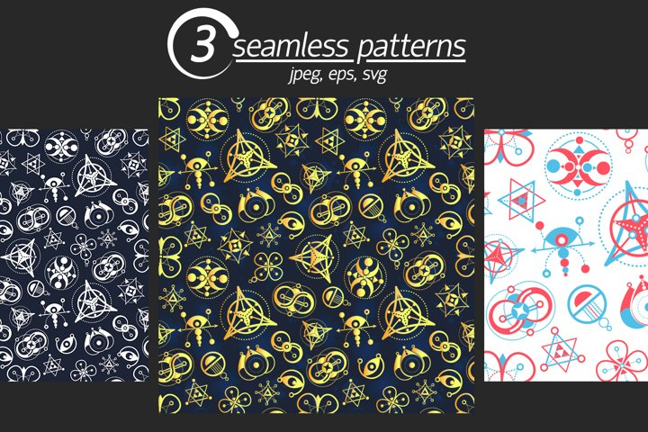 symbols abstract seamless pattern