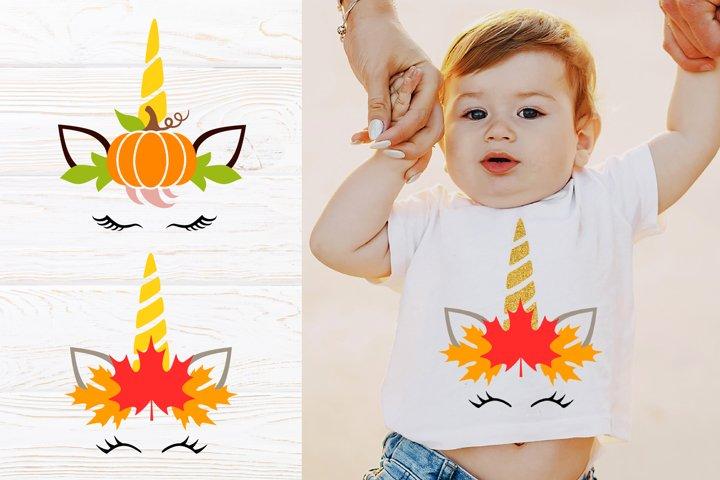 Fall unicorn svg files for cricut. Unicorn pumpkin face png.