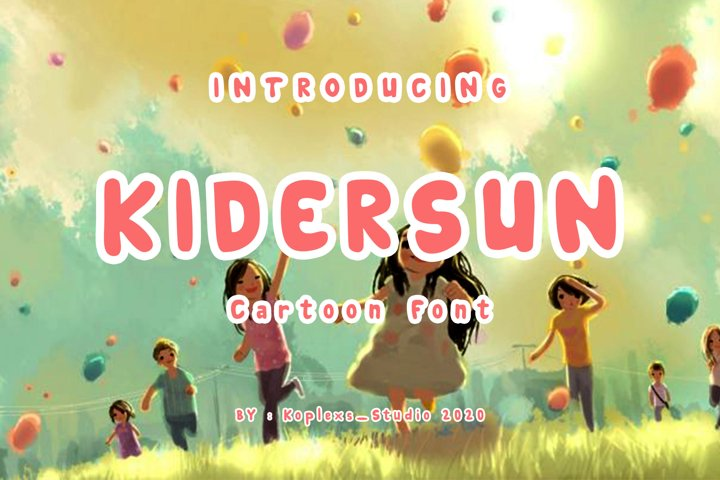KIDERSUN Cartoon Font
