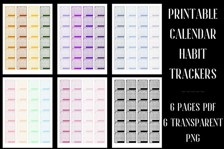 Calendar Habit Tracker Stickers