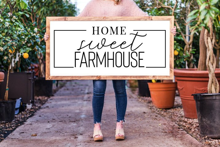 Home Sweet Farmhouse, Modern Farmhouse sign, 5 cut files inc