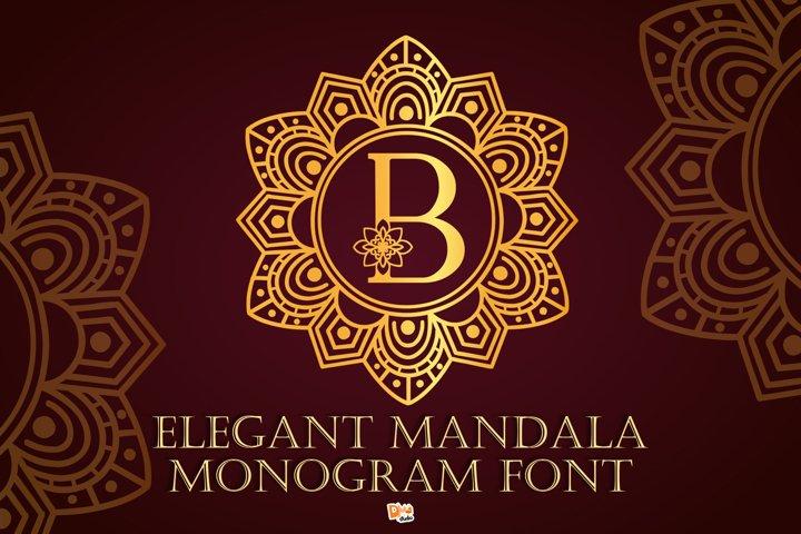 Elegant Mandala Monogram Font