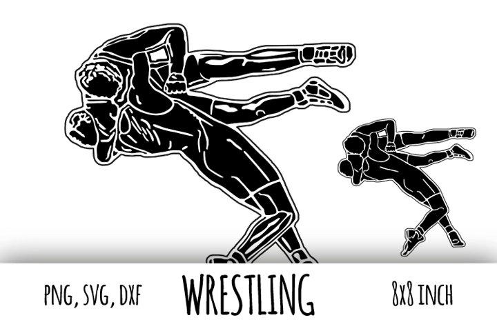 Wrestling svg. Greco-Roman Sport clipart