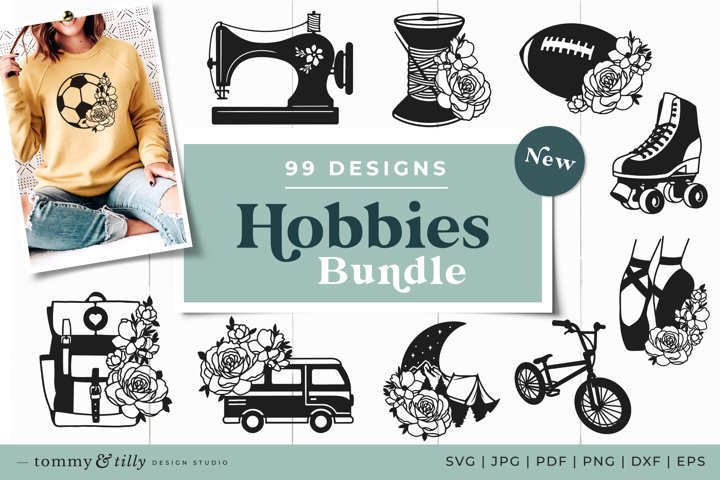 Hobbies SVG Bundle 99 Designs Cut Files Papercutting