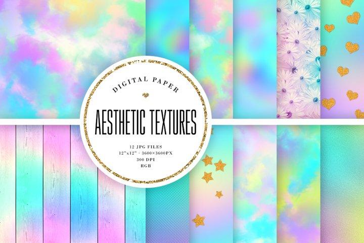 Aesthetic Texture Backgrounds - Pastel Digital Paper