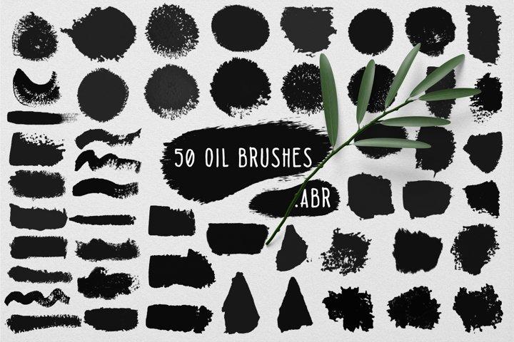 50 wet oil brushes set .ABR