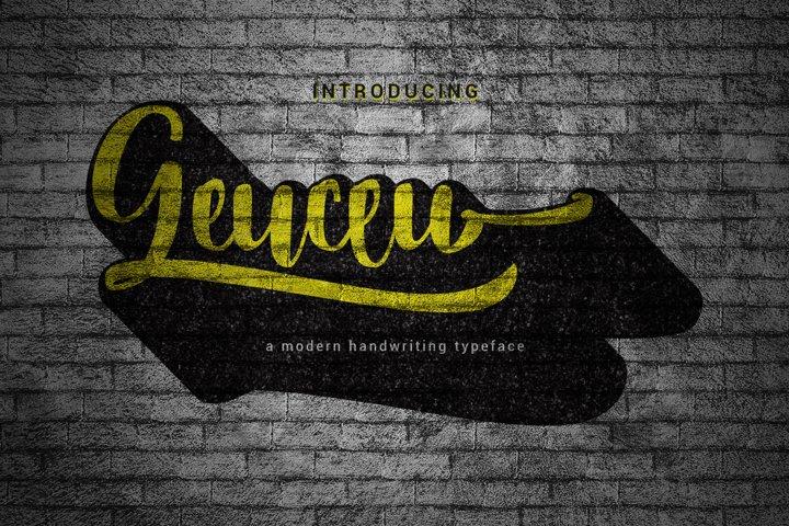 Geuceu Typeface example