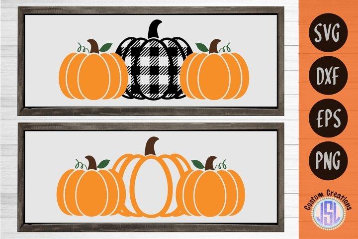 Buffalo Plaid Pumpkin Patch Set of 2 | SVG DXF EPS PNG PDF