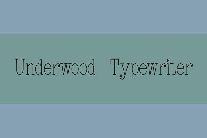 Underwood Typewriter - Free Font Of The Week Design0