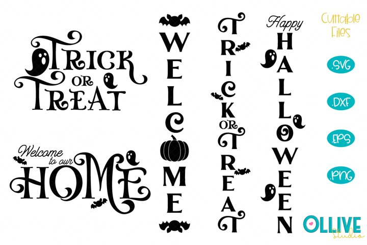 Halloween Porch Sign SVG Bundle Halloween SVG