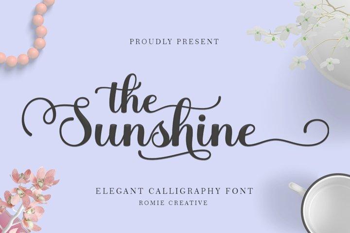 the Sunshine elegant Calligraphy font