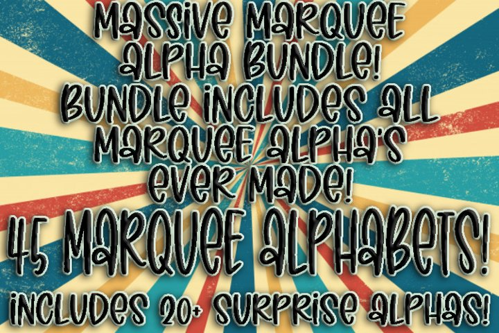 Massive Marquee Alpha Bundle! 45 Marquee Alpha Sets!