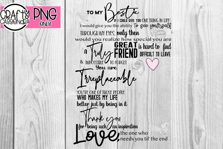 For my Bestie - best friends quote - bff quote - besties png