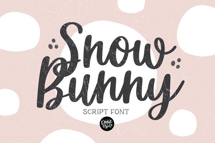 SNOW BUNNY a Pretty Script Font