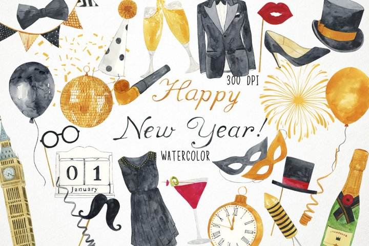 New Year Clipart, New Year Clip Art, New Years Eve Clipart