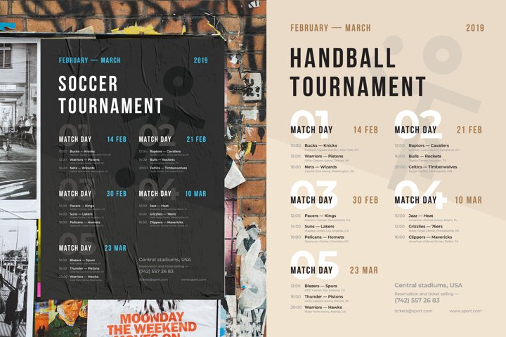 Sports Schedule Event Poster